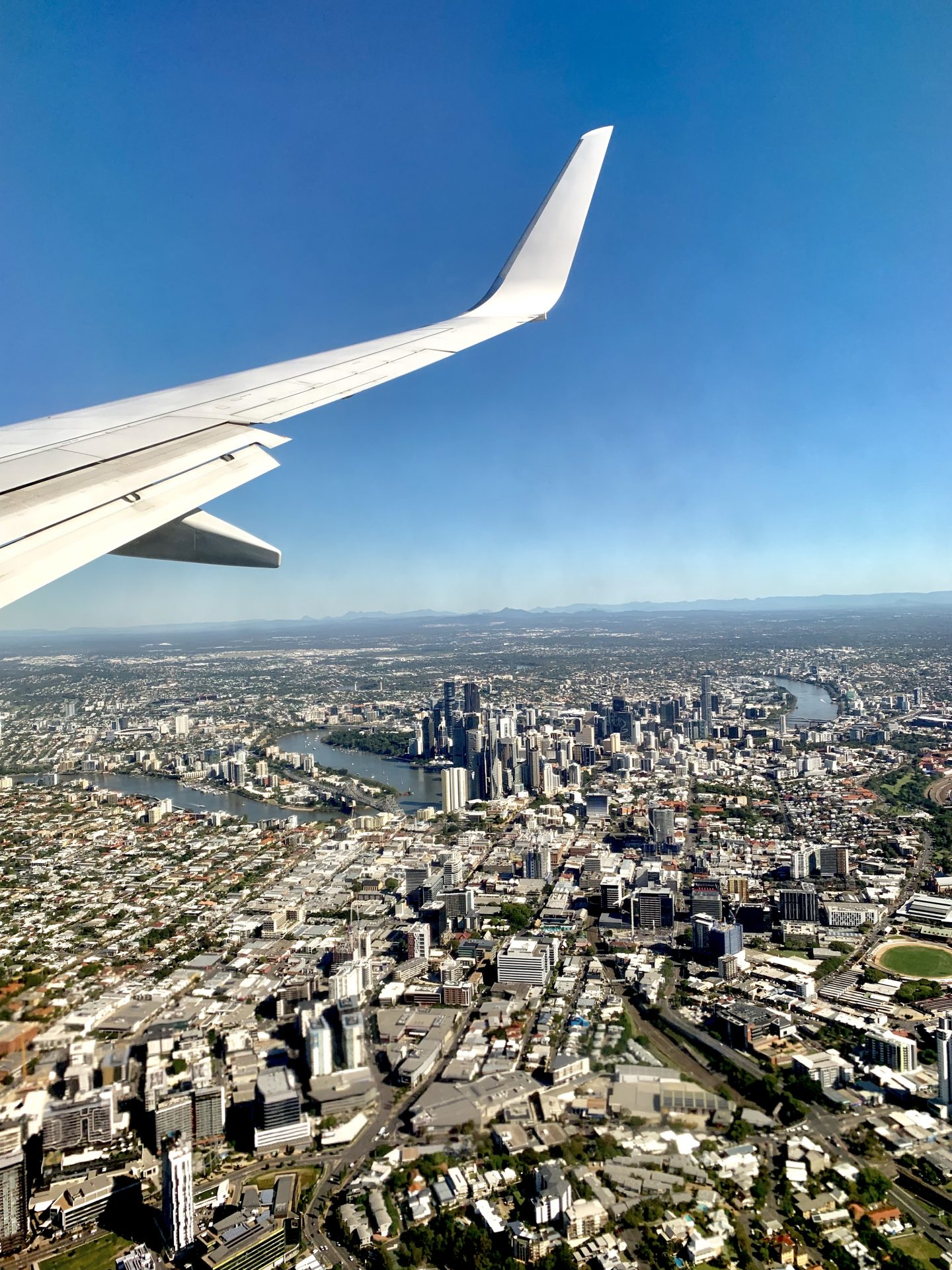 Brisbane seen from plane