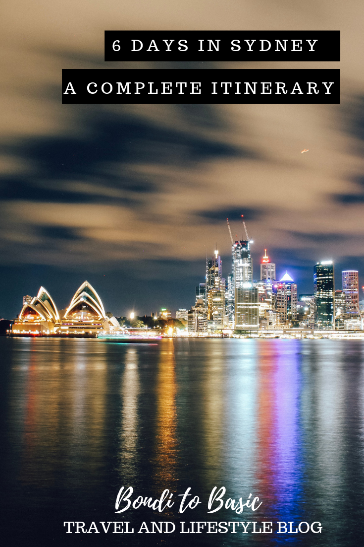 Sydney travel itinerary