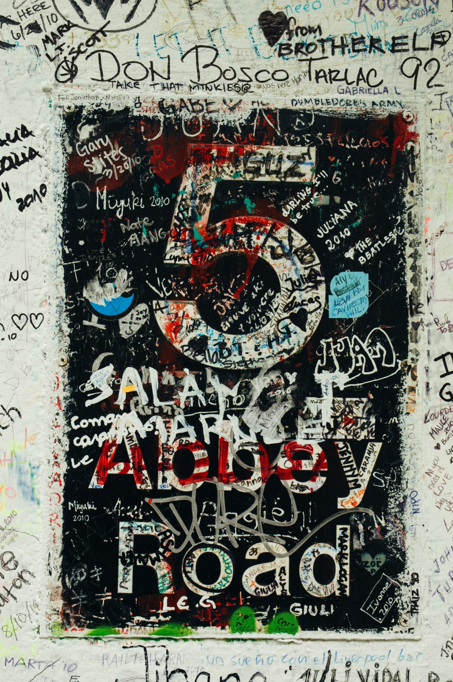 Abbey Road Graffiti. Cool things to do in London