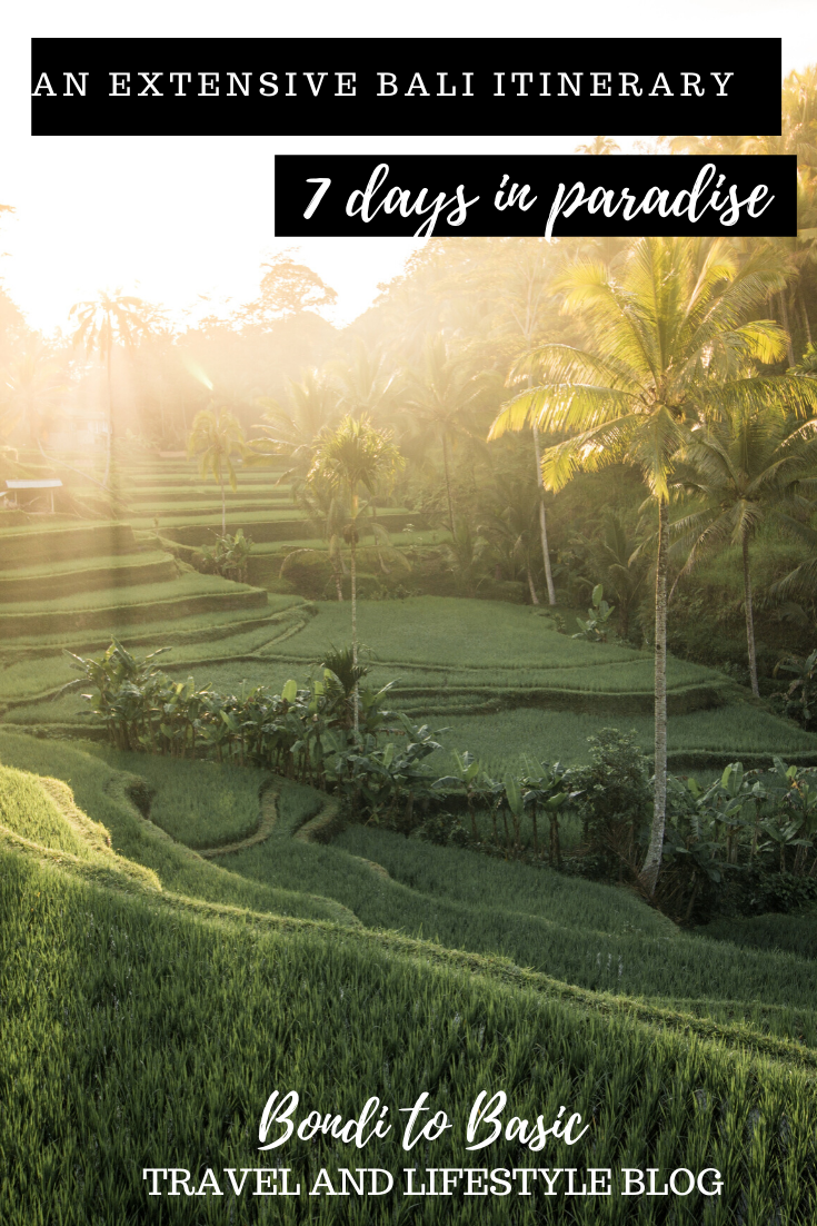 An extensive Bali itinerary 7 days in paradise