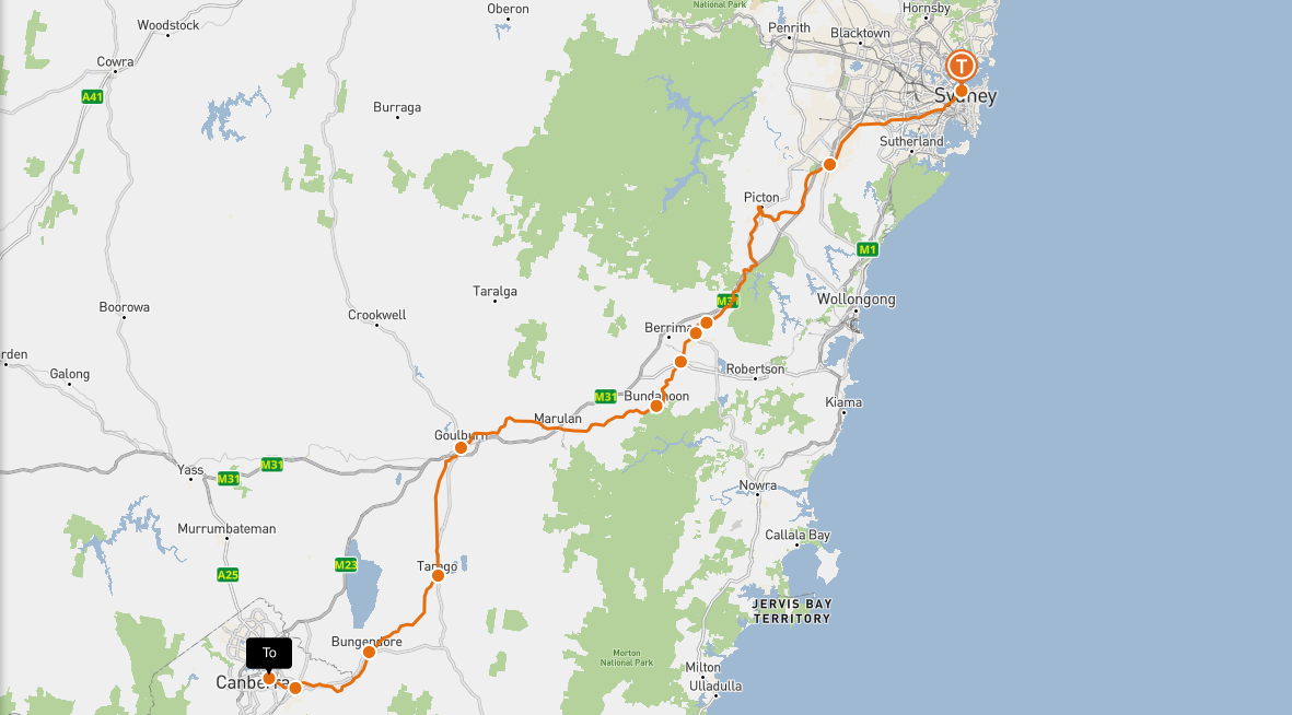 Day trip from Sydney to canberra